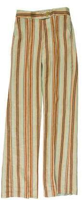 Etro Striped Mid-Rise Pants