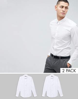 French Connection 2 Pack Slim Fit Shirts