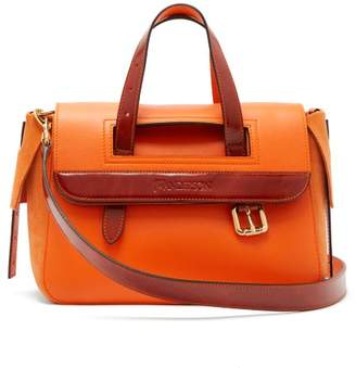 J.W.Anderson Tool Mini Suede And Leather Shoulder Bag - Womens - Orange