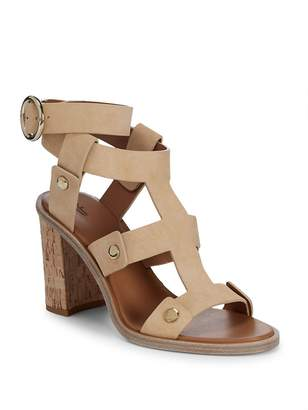 Frye Women's Nina Rivet Leather Ankle-Strap Sandals