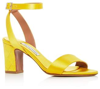 Tabitha Simmons Women's Leticia Satin Ankle Strap High-Heel Sandals