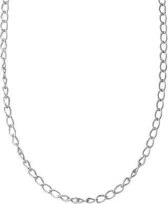 American West Textured Link Chain in Sterling Silver