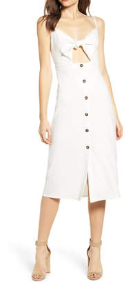 Bishop + Young Front Tie Button Dress
