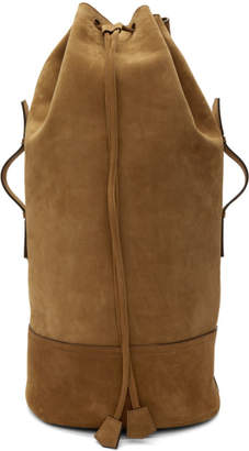 Ami Alexandre Mattiussi Brown Military Backpack