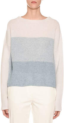 Agnona Degrade Colorblocked Ribbed Sweater