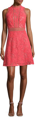 Rebecca Taylor Arella Sleeveless Lace Dress, Coral $595 thestylecure.com