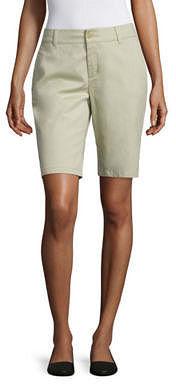 LIZ CLAIBORNE Liz Claiborne Twill Bermuda Shorts $36 thestylecure.com
