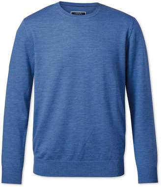 Charles Tyrwhitt Blue Merino Wool Crew Neck Sweater Size Large