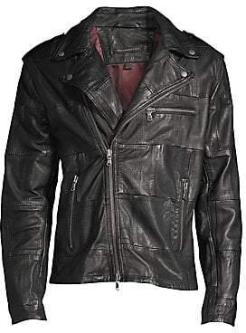 John Varvatos Men's Patchwork Leather Jacket