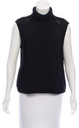Helmut Lang Sleeveless Ribbed Turtleneck