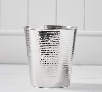 Pottery Barn Hammered Nickel Wastebasket