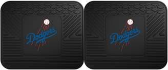 Fanmats FANMATS Los Angeles Dodgers 2-Piece Backseat Utility Mat Set