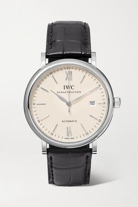 IWC SCHAFFHAUSEN - Portofino Automatic 40mm Stainless Steel And Alligator Watch - Silver