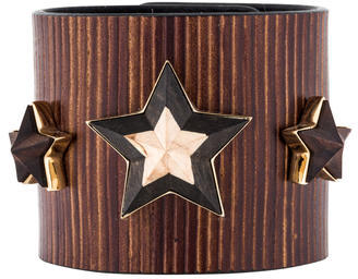 Givenchy Givenchy Triple Star Leather Cuff w/ Tags