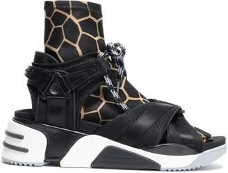 Marc Jacobs Grosgrain-trimmed Printed Scuba Sneakers