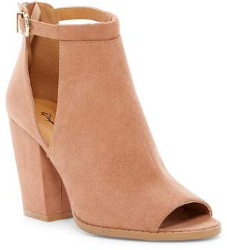 Qupid Lost Cutout Block Heel Bootie