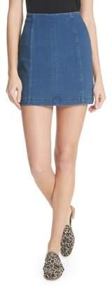 Free People 'Modern Femme' Denim Miniskirt