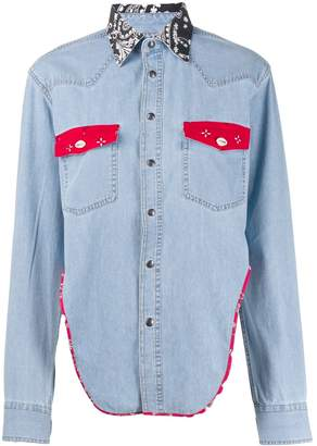 Couture Forte Dei Marmi cropped denim shirt