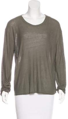 Alexander Wang Distressed Long Sleeve Top