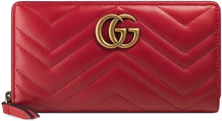 GucciGG Marmont zip around wallet