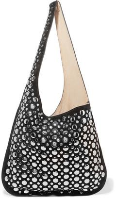 Elizabeth and James - Finley Studded Suede Shoulder Bag - Black $695 thestylecure.com