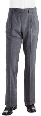 Lauren Ralph Lauren Mid-Weight Pleated Wool Trouser Pants