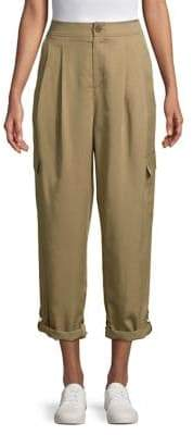 Highline Collective High-Rise Roll-Cuff Cargo Pants