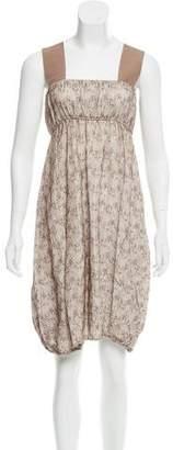Zero Maria Cornejo Sleeveless Embroidered Dress