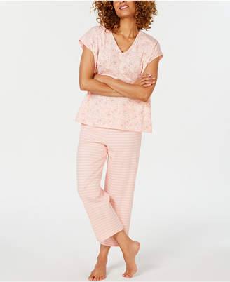 Charter Club Cotton Short-Sleeve Dolman Top and Pajama Pants Set