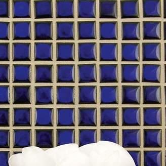 Morgan EliteTile .75 x .75 Porcelain Mosaic Floor and Wall Tile in Cobalt