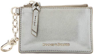 Dooney & Bourke Lamb Leather Zip Top Card Case