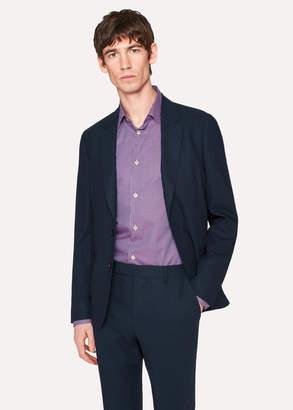 Paul Smith Men's Tailored-Fit Dark Navy Loro Piana Wool Blazer