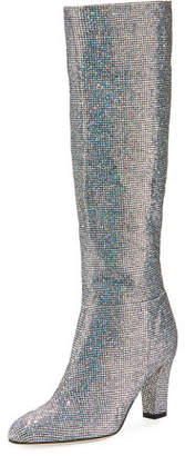 Sarah Jessica Parker Studio Sparkle Holographic Knee-High Boot