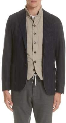 Eleventy Slim Fit Stripe Wool & Cotton Sport Coat