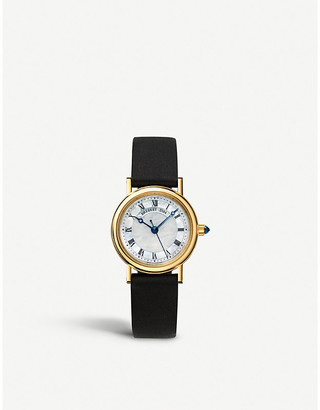 Breguet 8067BA/52/964 Classique 8067 18-ct yellow-gold and leather watch