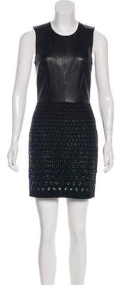 Robert Rodriguez Leather Bodice Mini Dress
