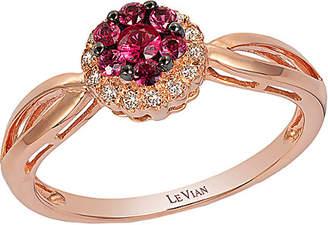 LeVian Le Vian 14K Rose 0.28 Ct. Tw. Diamond & Ruby Ring