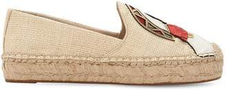 Tory Burch 20mm Parrot Patch Espadrilles