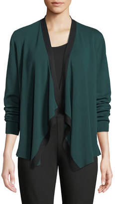 Eileen Fisher Angled-Front Colorblock Cardigan