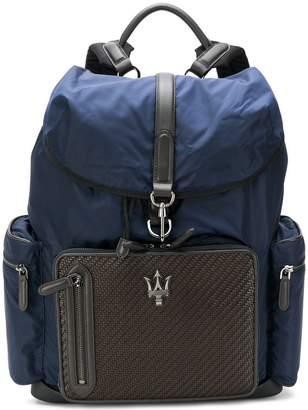 Ermenegildo Zegna Pelle Tessuta backpack