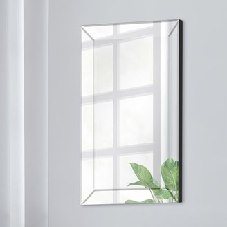 Gallery Solutions 16x24 Mirror Framed Beveled Wall Accent Mirror