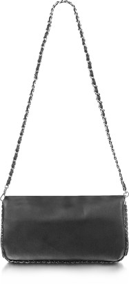 Fontanelli Black Leather Baguette Bag