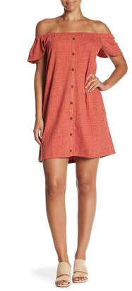 Madewell Off-the-Shoulder Texture & Thread Dress