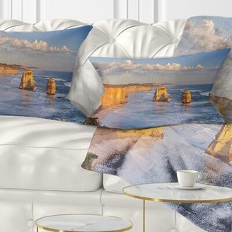 East Urban Home Seashore Twelve Apostles on Ocean Road Lumbar Pillow East Urban Home