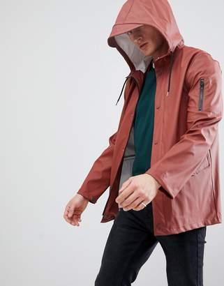 New Look Rain Coat In Rust