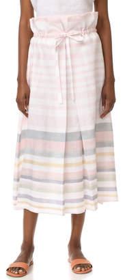 Mara Hoffman Paper Bag Midi Skirt $350 thestylecure.com