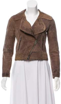 Yigal Azrouel Cut25 by Leather Distress Jacket