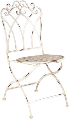 Highst. Set of 2 Distressed Martinique Iron Chairs