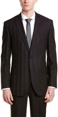 English Laundry Wool Slim Suit With Flat Front Pant