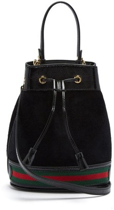 Gucci Ophidia Suede Bucket Bag - Womens - Black Multi
